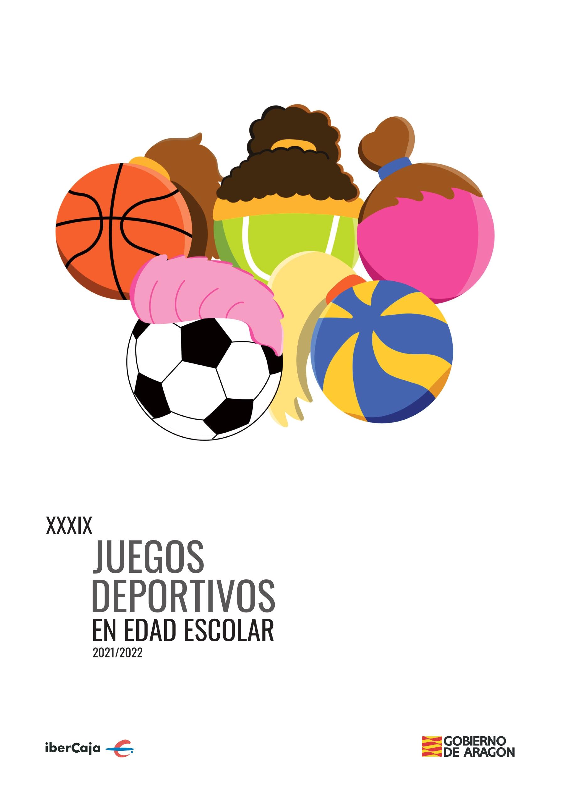 Cartel Juegos Escolares de Aragón